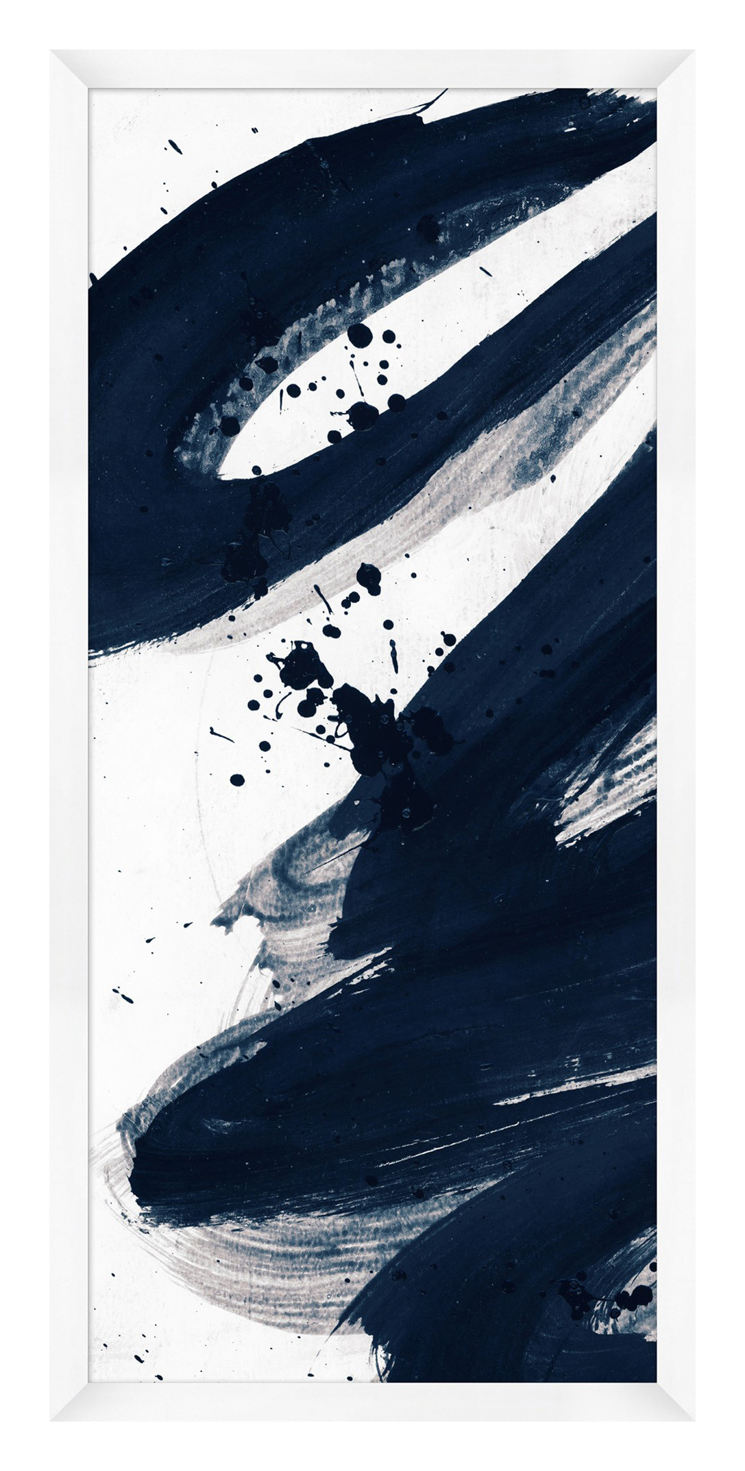 Indigo Abstract Diptych 1